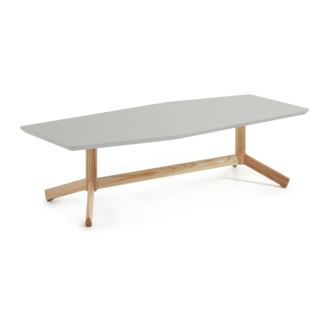 Kavehome Table basse Tropid, frene et gris