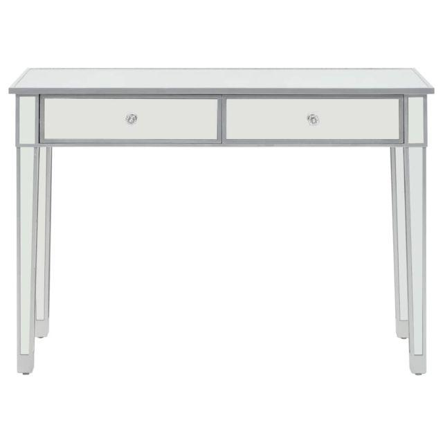 Icaverne - Bouts de canapé categorie Table console miroir MDF et verre 106,5 x 38 x 76,5 cm