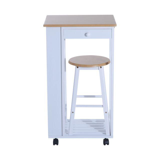 homcom chariot desserte de cuisine sur roulettes table. Black Bedroom Furniture Sets. Home Design Ideas