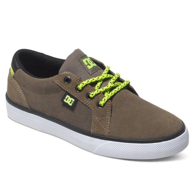 2766eb75f4b4f Dc - Shoes Council Chaussure Garçon - Taille 32 - Vert - pas cher Achat    Vente Baskets enfant - RueDuCommerce