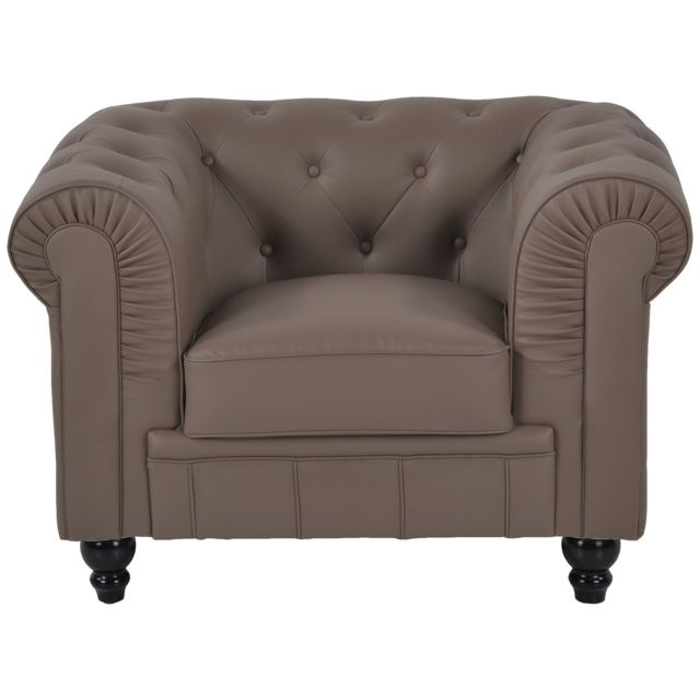 Fauteuil Chesterfield Regency Taupe