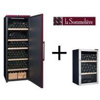 La Sommelière - La Sommeliere Vip315PCD Cave a vin de vieillissement-325 bouteilles-A+ Et Cave a vin de service-40 bouteilles-B