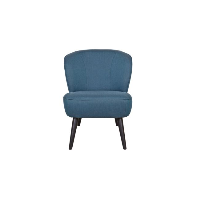 woood fauteuil en tissu bleu p trole pi tement conique en bois collection sara pas cher. Black Bedroom Furniture Sets. Home Design Ideas