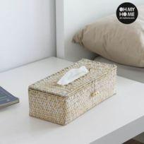 - Boîte à mouchoirs décorative en rotin - Range mouchoir decoration de la maison