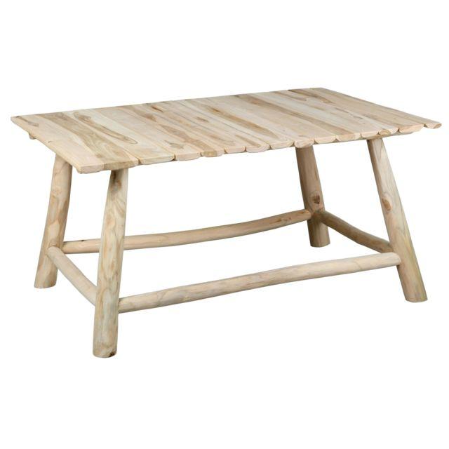 AUBRY GASPARD Table basse en teck naturel Arthur