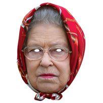 Mask-arade - Masque Carton - Reine Elizabeth Ii