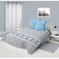 Soleil D'OCRE - Couette imprimée 220x240 Dream Bleu