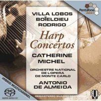 Pentatone - Heitor Villa Lobos | François Adrien Boieldieu | Joaquin Rodrigo - Concertos pour harpe