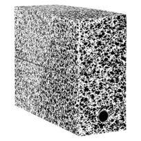 Fast - Boîte de classement carton Adine tradition dos 9 cm - noir/blanc - Lot de 5