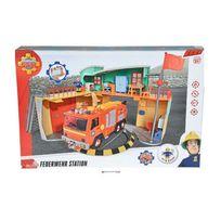 Simba Toys - 109258282 Pompier Sam - Nouvelle caserne de pompiers avec figurines