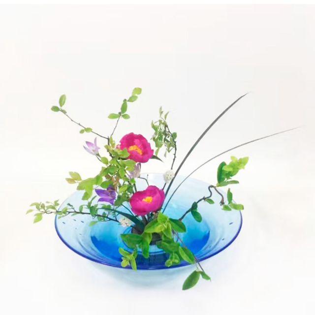 Grand plateau à fleurs japonais Ikebana Suiban Vase rond noir