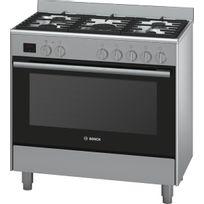 Bosch - cuisinière gaz 112l 5 feux inox - hsb736257e