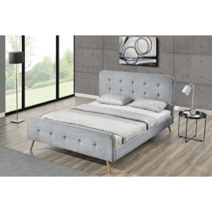 concept usine lit lanka cadre de lit scandinave gris. Black Bedroom Furniture Sets. Home Design Ideas