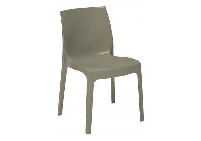 Declikdeco Chaise Design Grise Perle Laquée Lady