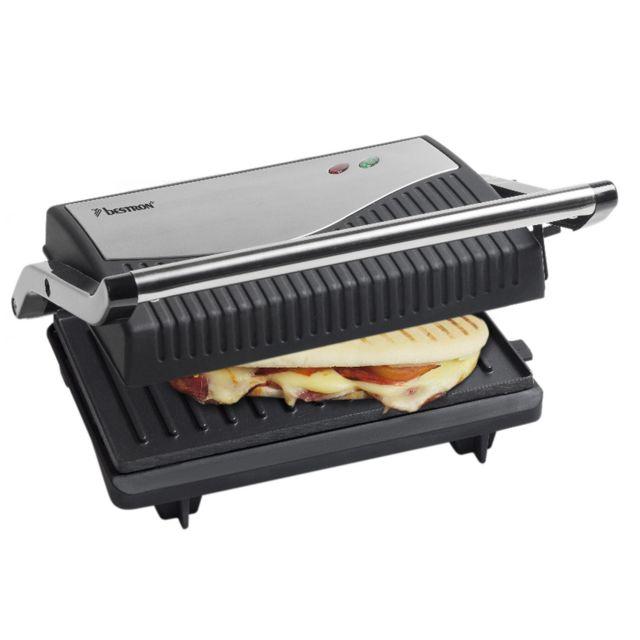 BESTRON grill viandes et panini 750w noir/inox - apg150