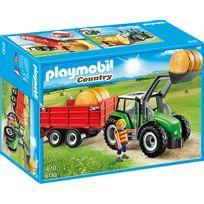 Tracteur avec pelle et remorque - 6130