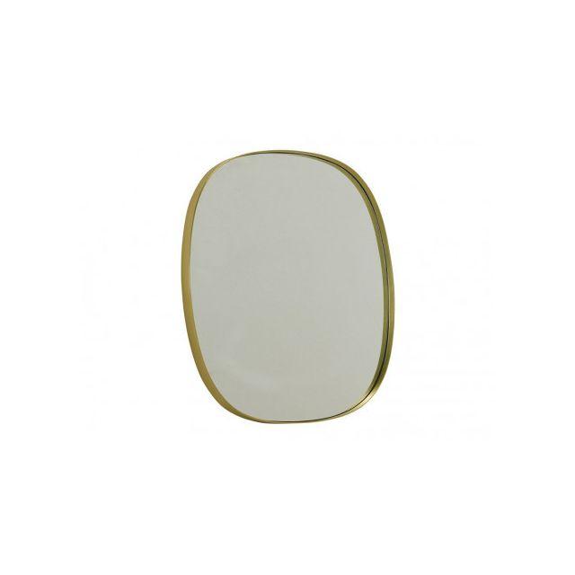 Marque Generique Miroir art déco Daly - L51 x H56 cm - Métal - Laiton