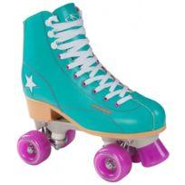 Hudora - Disco Skates - Roller - Patins à Roulettes - Vert/Violet - Taille 36