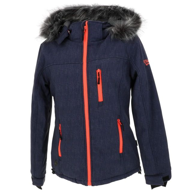 Eldera Sportswear Softshell blouson Vanoise blue orange softshell Bleu 61005