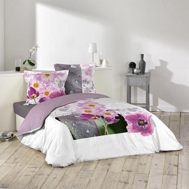 Bois de Rose 100/% Coton 50 x 70 cm Douceur dInt/érieur Taie dOreillers