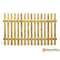 Jardipolys - Clôture en bois lames droites demi rondins Pyla - L180cm x H100 cm