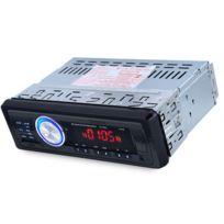 Auto-hightech - Autoradio Audio Stéréo de Voiture Fm Bluetooth V2.0 avec lecteur Usb, carte Sd, Micro Aux, Mains-libres, Télécommande