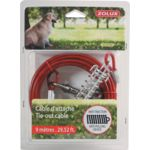 ZOLUX - Cable d'attache avec ressorts anti traction