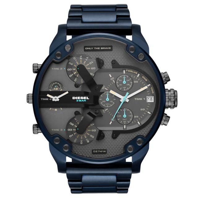 diesel montre en acier bleu pas cher achat vente montres homme rueducommerce. Black Bedroom Furniture Sets. Home Design Ideas