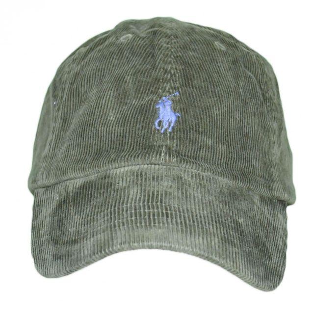 5e86447ba823 Ralph Lauren - Casquette velour vert kaki logo bleu pour homme - pas cher  Achat   Vente Casquettes, bonnets, chapeaux - RueDuCommerce