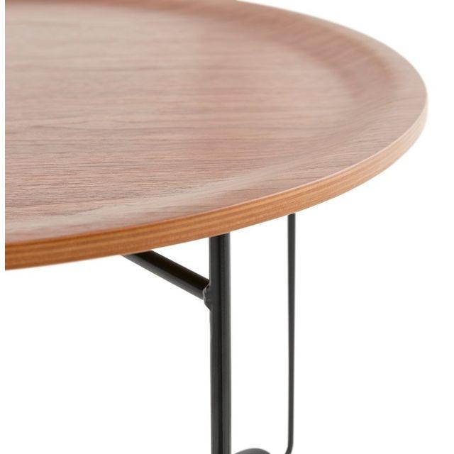 Alterego - Table basse de salon 'IMOTEP' noire style industriel 0cm x 0cm x 0cm