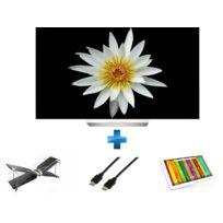 LG - TV OLED – 55EG9A7V + Mini drone Swing + Radiocommande Flypad - PF727003 - Noir et Blanc + Cordon HDMI 1.4 - 1.5 mètres + 101E NEON - 10,1'' IPS - 16 Go - Wifi - Blanc et gris