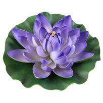 Velda - Décoration Lotus Mauve pour Bassin - 28cm