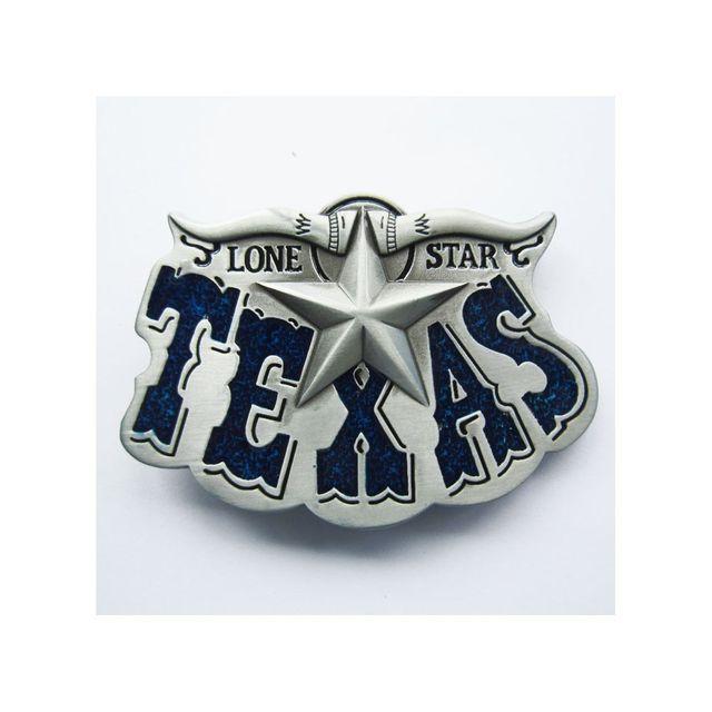 Universel Boucle de ceinture country etoile texas bleu lone star mixte