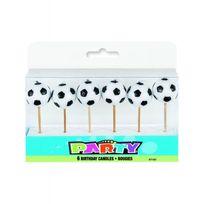 Parafete - Bougies anniversaire ballon de foot x6