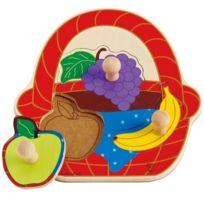 Hape International - Hape - E1306 - Puzzle En Bois - Panier De Fruits