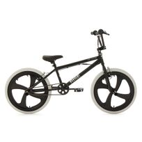 KS CYCLING - BMX Freestyle 20'' Rise noir avec pneu blanc