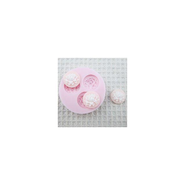 Alpexe Moule de Cuisson 3 Fleur Nenuphare Fleur De Lotus 3D Pour Gâteau Pour Cookie Pour Tarte Silikon Ecologique