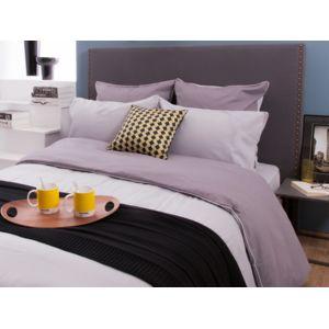 comptoir des toiles taie d 39 oreiller reversible bicolore 100 coton 60 fils passepoil contrast. Black Bedroom Furniture Sets. Home Design Ideas