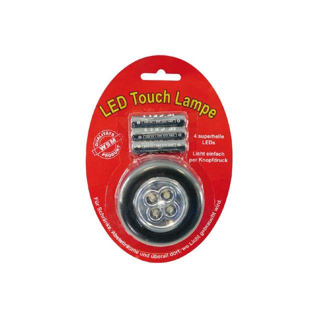 Coolminiprix Lot de 6 - Lampe 4 Led Stick Tap Touch argenté + piles - Qualité