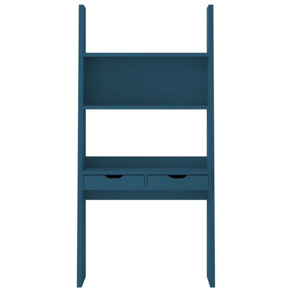 Alinéa - Yolo Bureau étagère bleu à 2 tiroirs H186cm