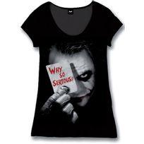 Cotton Division - Batman T-shirt Femme Why So Serious Noir Xl