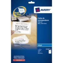 Avery - c2318-25 - carte de correspondance imprimables 128x82mm 260g - paquet de 100