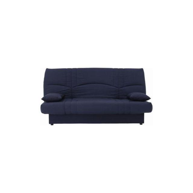 Sans Marque Dream Banquette Clic Clac 3 Places - Tissu Bleu Fonce - Slyle Contemporain - L 190 X P 92 Cm