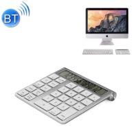 Wewoo - Clavier sans fil Qwerty argent pour ordinateur portable Pc de bureau Mc-55AG 2 en 1 ultra-mince Bluetooth numérique 3.0 calculatrice