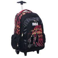 Nba Basket Usa - Cartable à roulettes Nba Basket rouge 45 Cm Haut de gamme