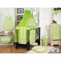 Autre - Lit et Parure de lit bébé bonne nuit vert ciel de lit mousseline 120 60