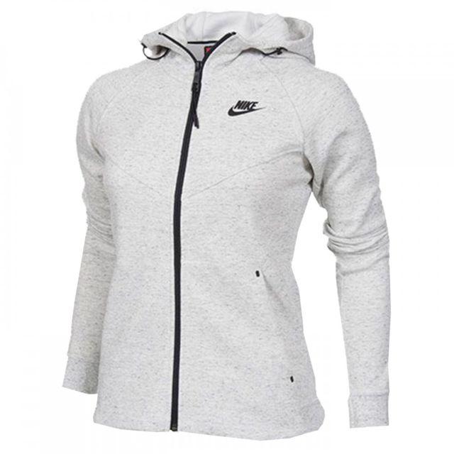 Nike - Sweat Tech Fleece Windrunner Full-Zip - Ref. 683794-121 Blanc - XL - pas  cher Achat   Vente Sweat femme - RueDuCommerce b5e472a47ff8