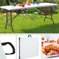 Table resine pliante - catalogue 2019 - [RueDuCommerce - Carrefour]