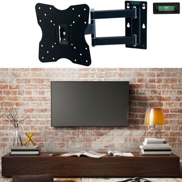 Idmarket Support Tv Mural Pivotant Et Inclinable Capacite 25 Kg
