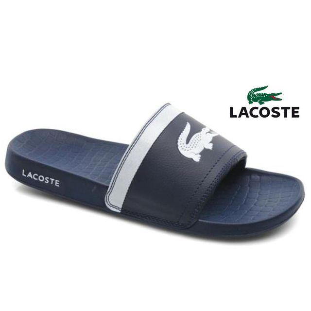 b90ea92b97c Lacoste - Claquettes Fraisier Blue White - pas cher Achat   Vente ...